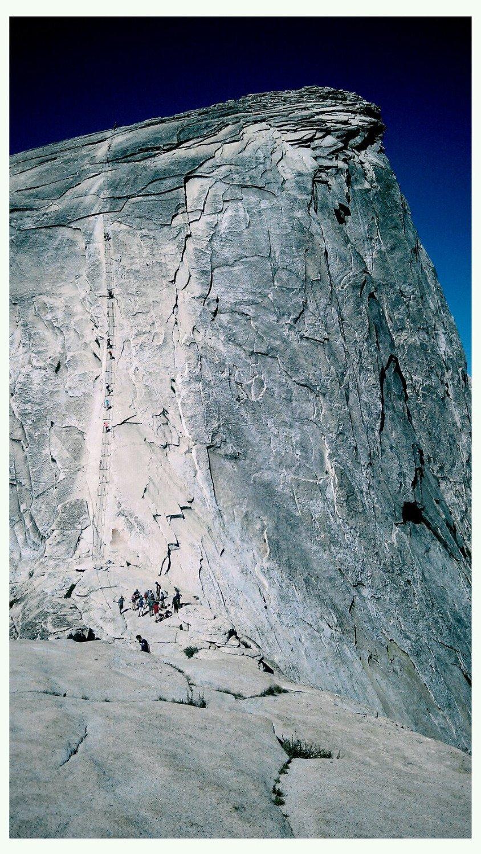 The final ascend to Half Dome, Yosemite NP