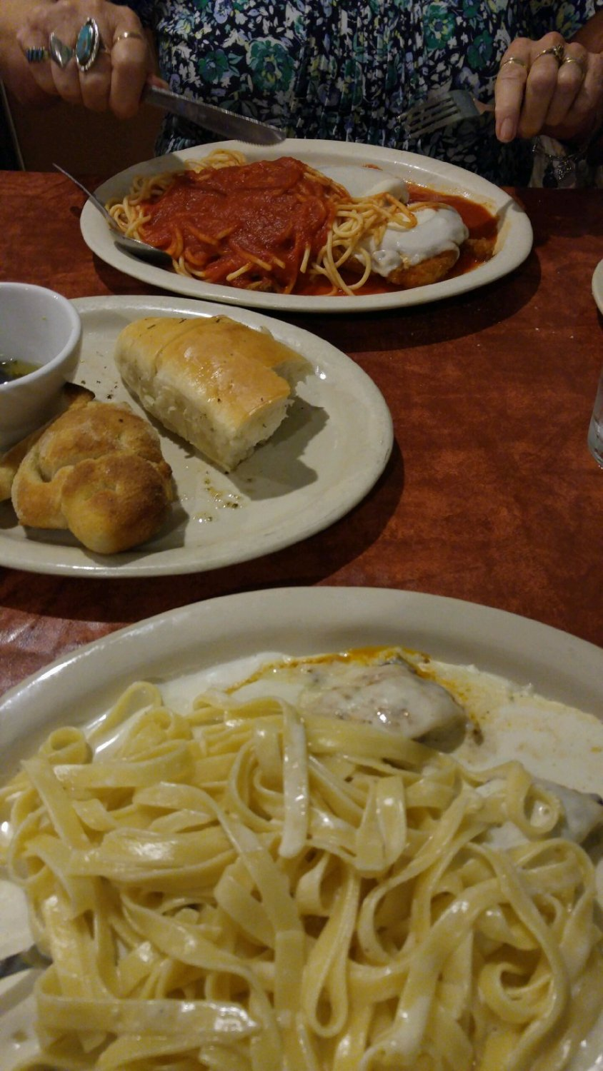 Chicken Alfredo and Parmesan Orders
