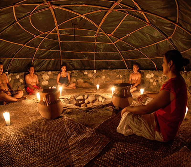Discovery of the mayan culture in Temazcal