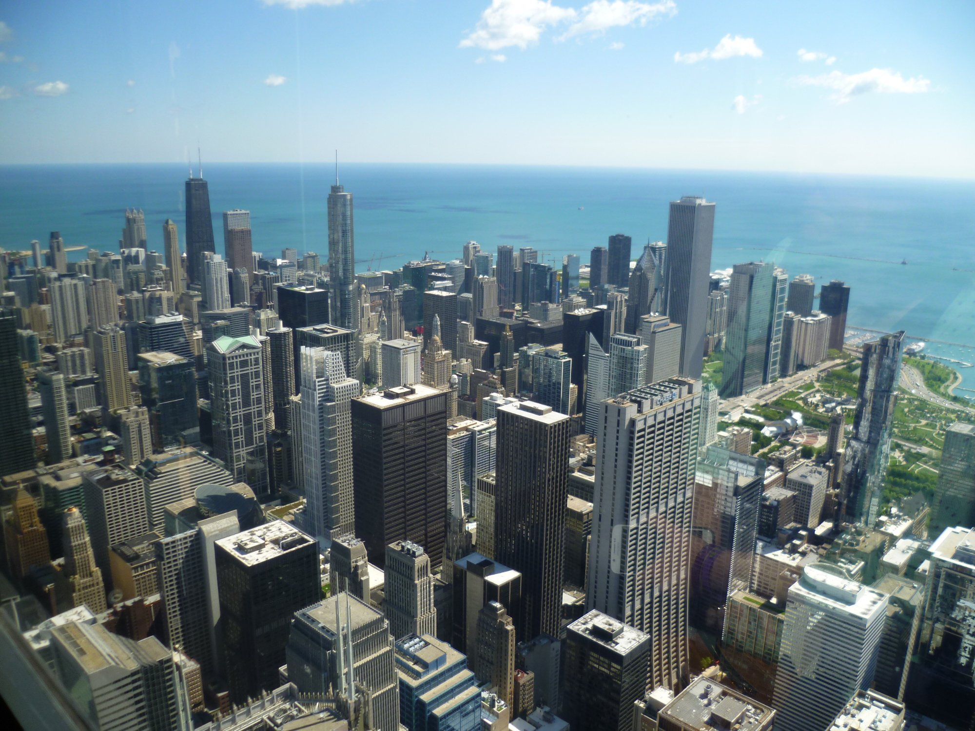 Skydeck view from Willis Tower