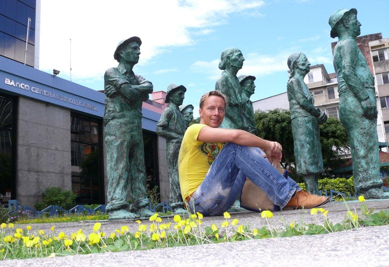 Costa Rica San Jose Statues of Poor Farmers