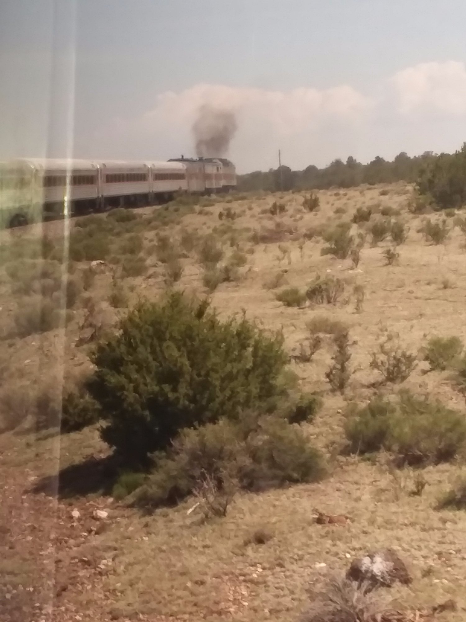 On the Grand Canyon Railway Train
