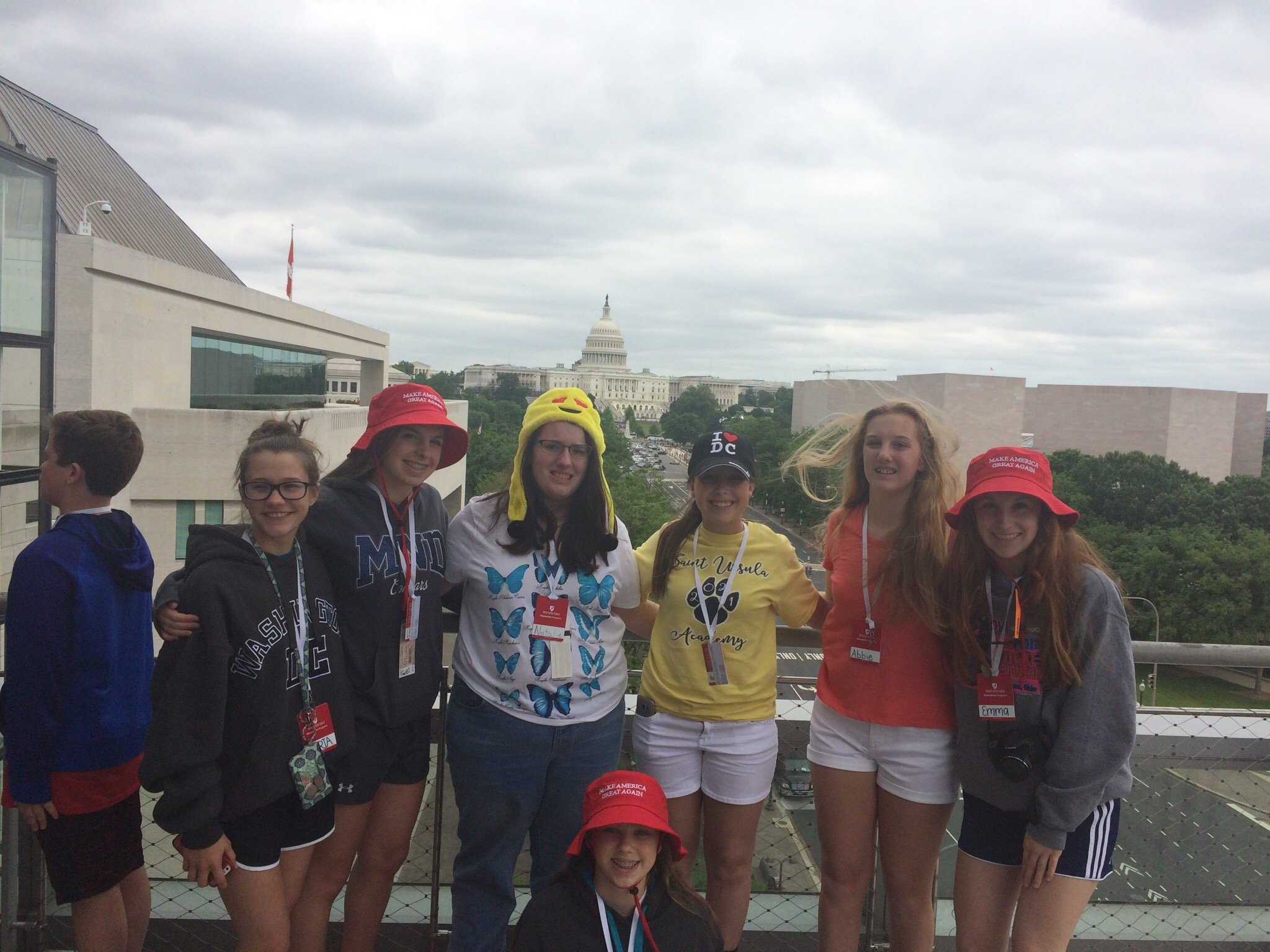 Me and some of my classmates on top of the Newseum