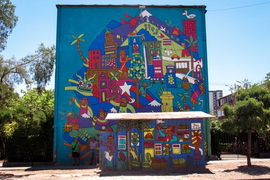 Museo a cielo abierto santiago chile updated 2018 top for Carpenter papel mural santiago chile