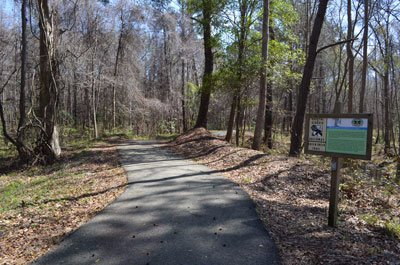 Beginning section of the path off of GA 144
