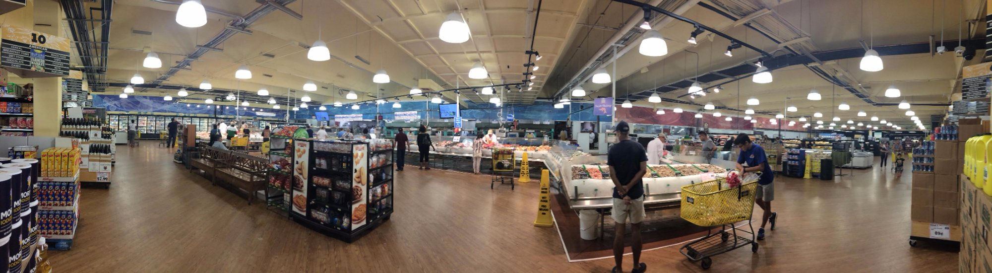 Seafood and meat area