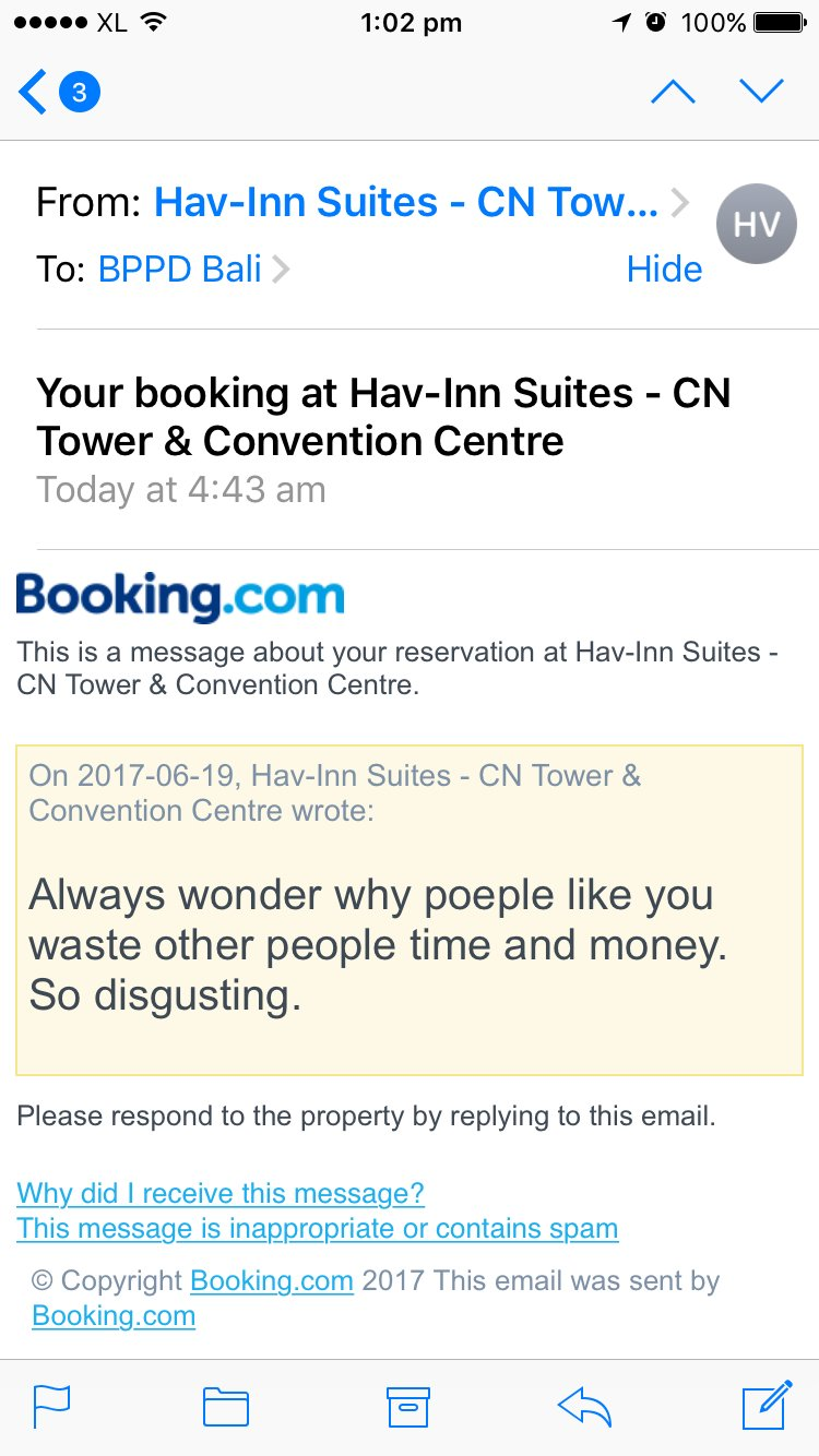 The email from Hav-Inn Suites