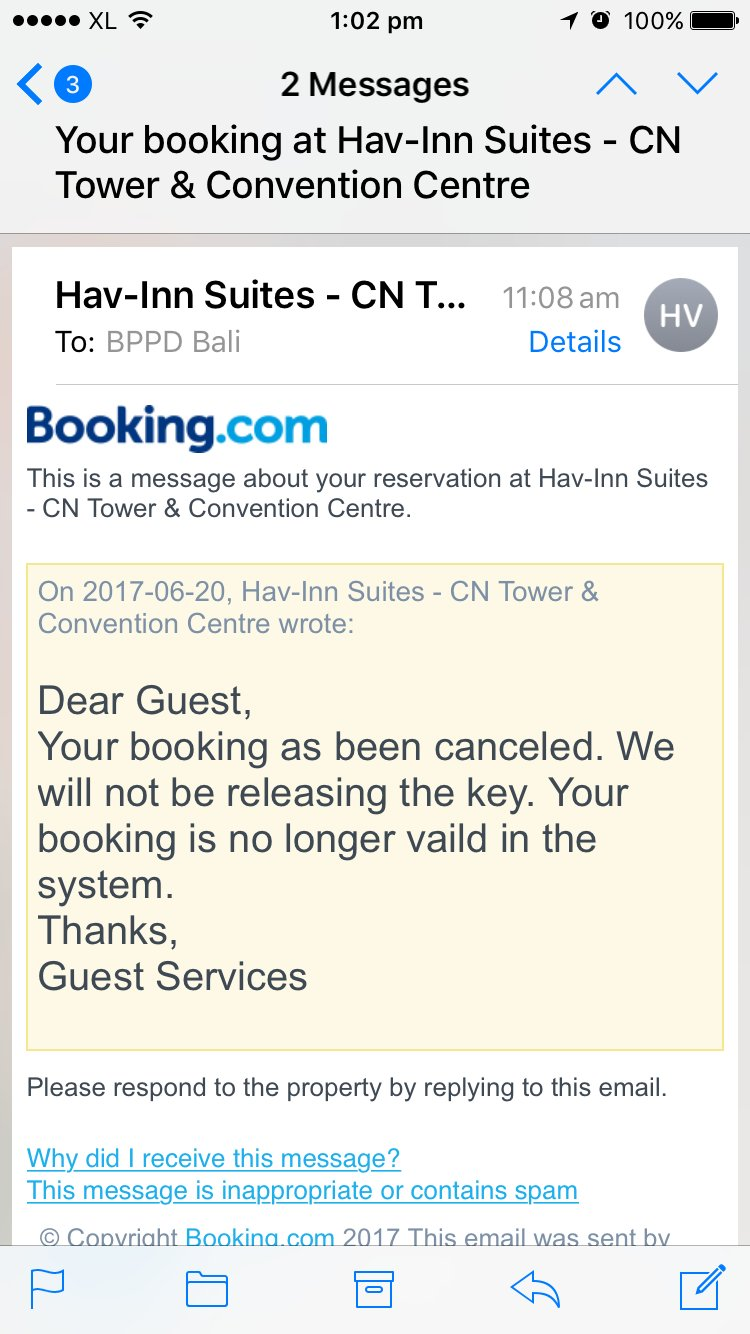Reply from Hav-Inn Suites