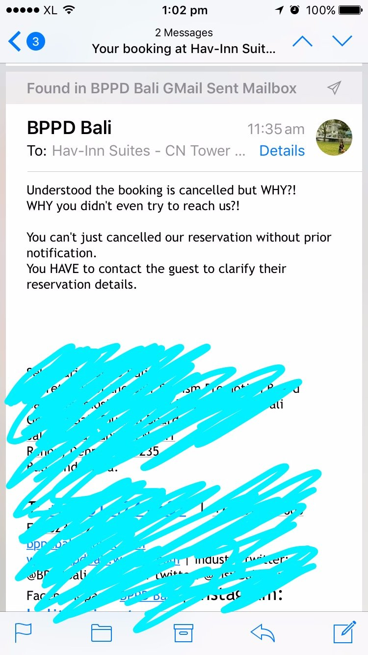 My reply to Hav-Inn but got no respond. Previously sent an email too