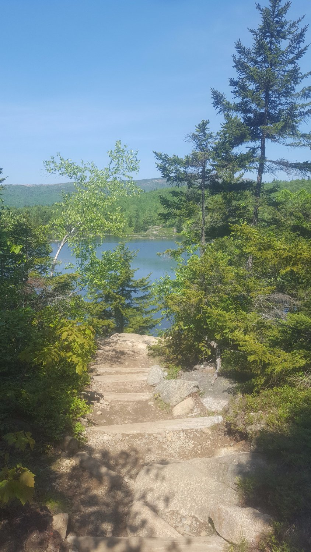 Descending Beehive Trail  Acadia National Park