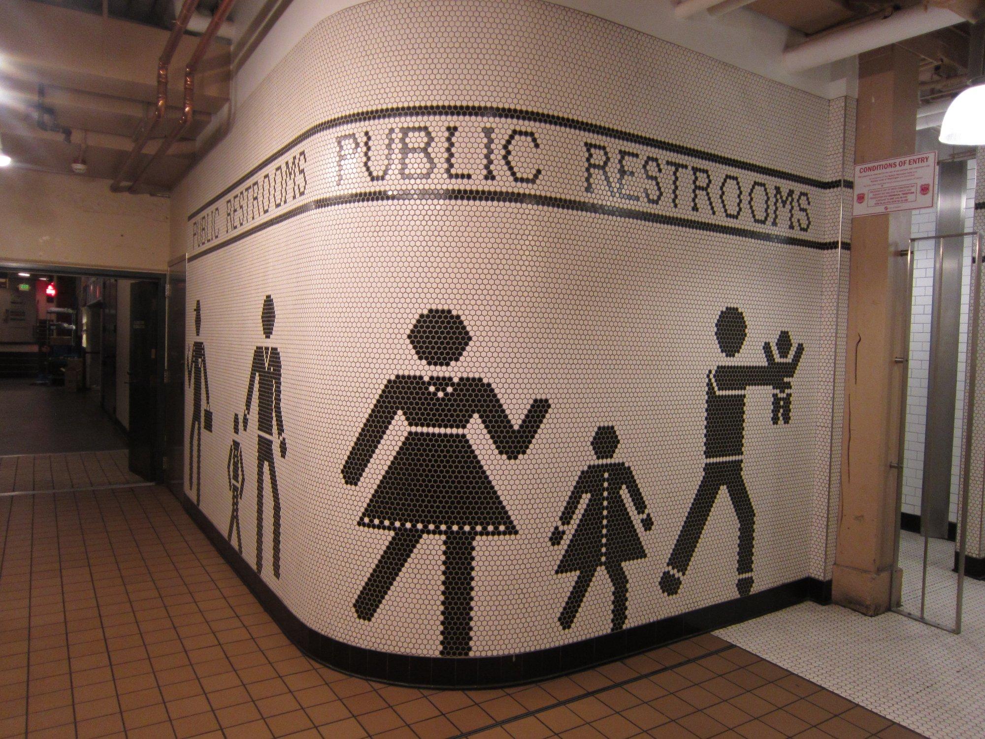 Pike Place Market public restroom, Seattle, WA