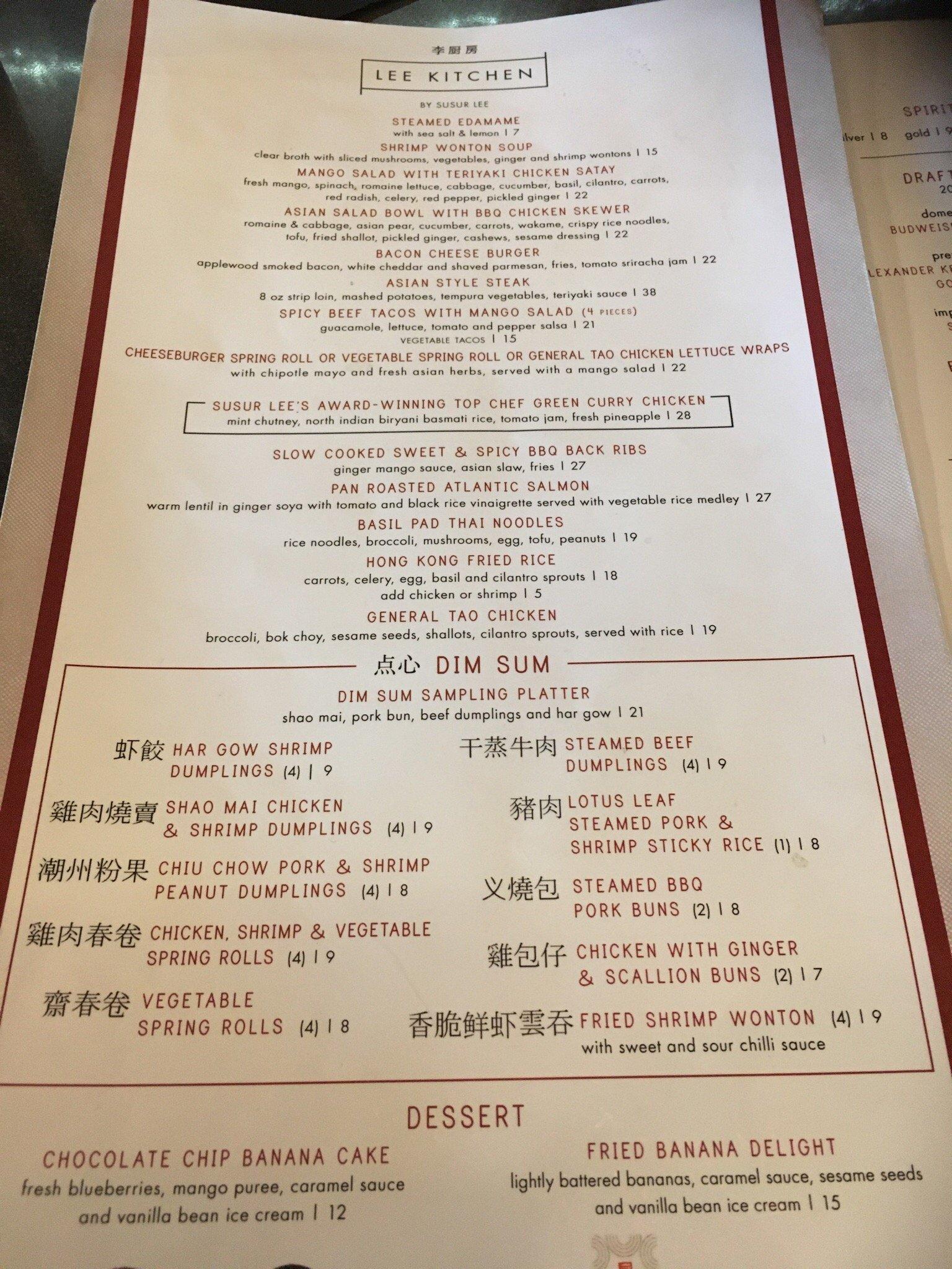 lee kitchen mississauga restaurant reviews phone number