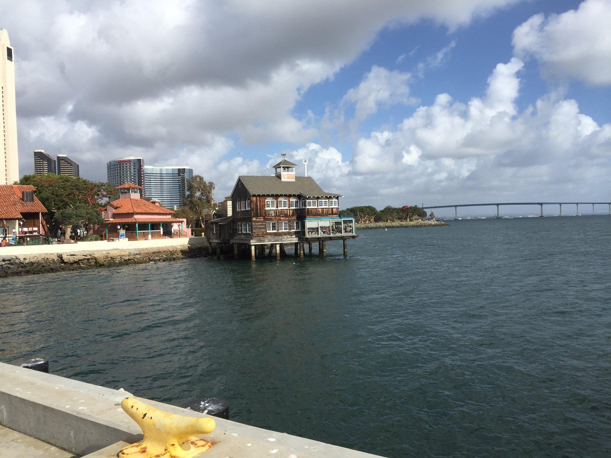 Seaport Village Sandiego looking towards Coronado Bridge