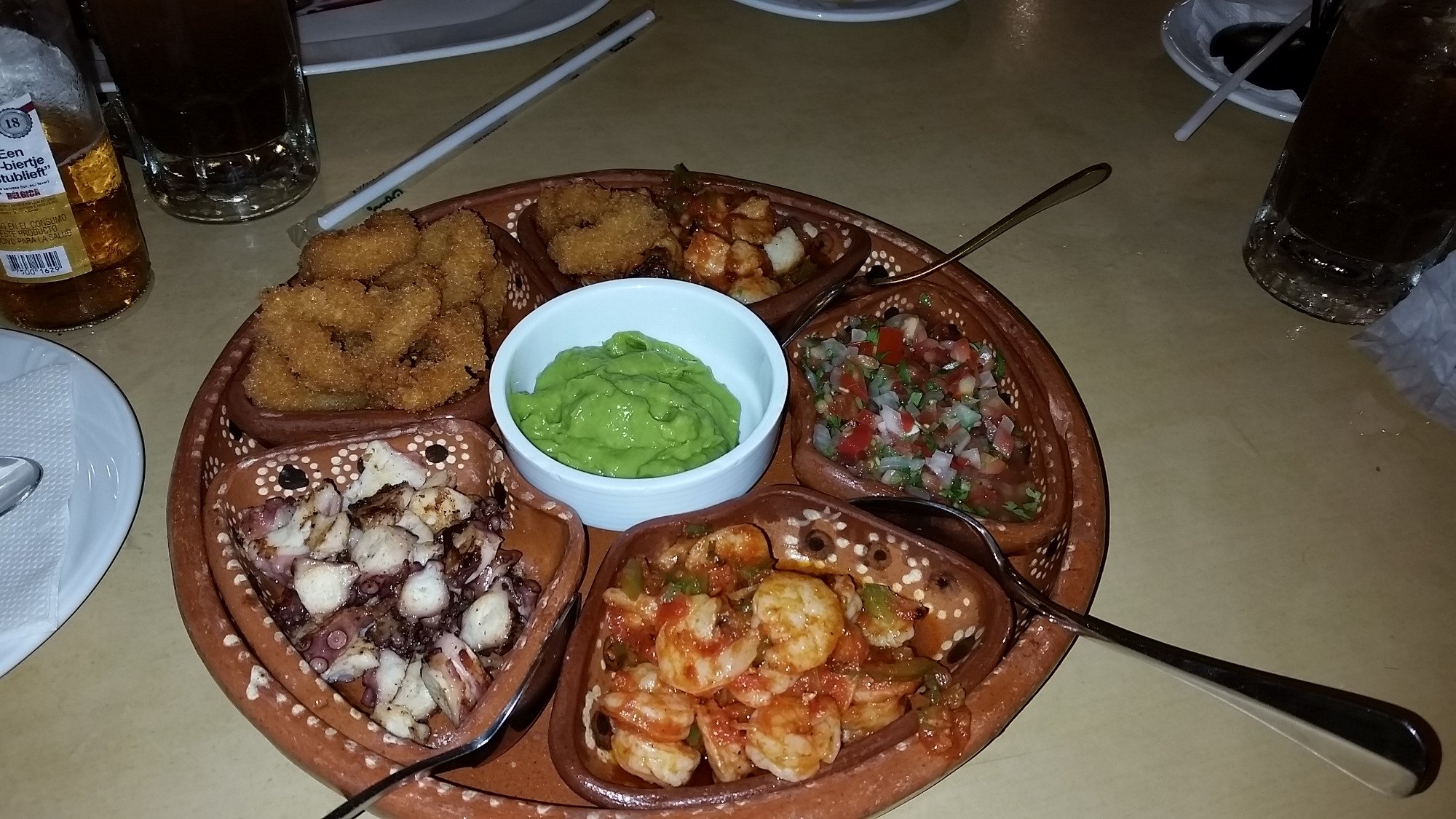 excellent seafood in downtown Cancun.