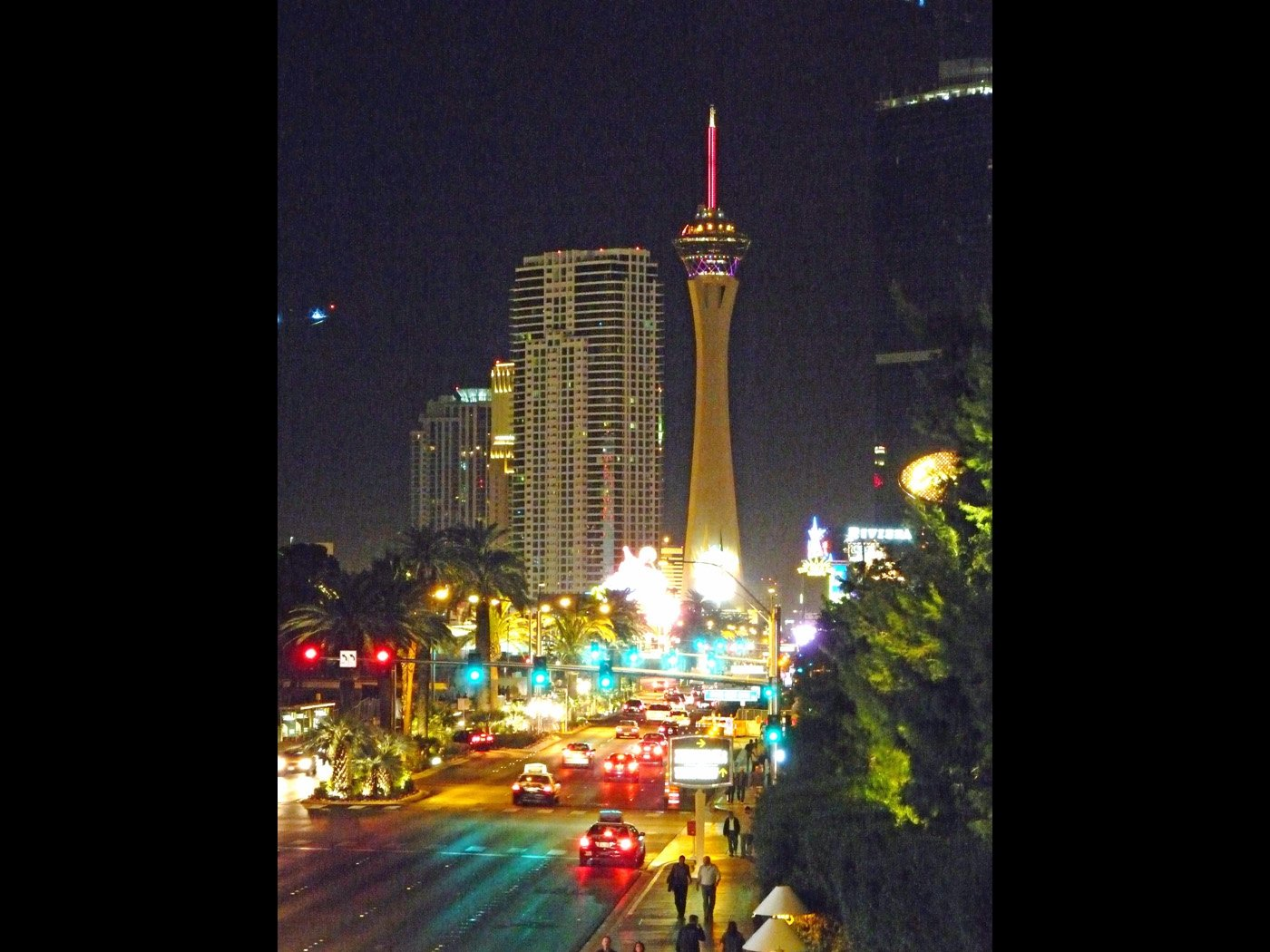 Stratosphere Tower from central Las Vegas