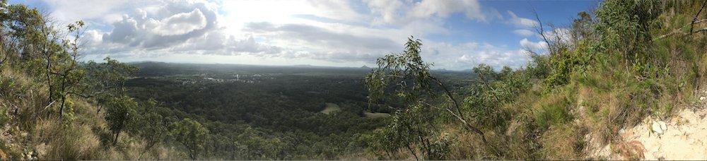 Panoramic Eastern view from peak