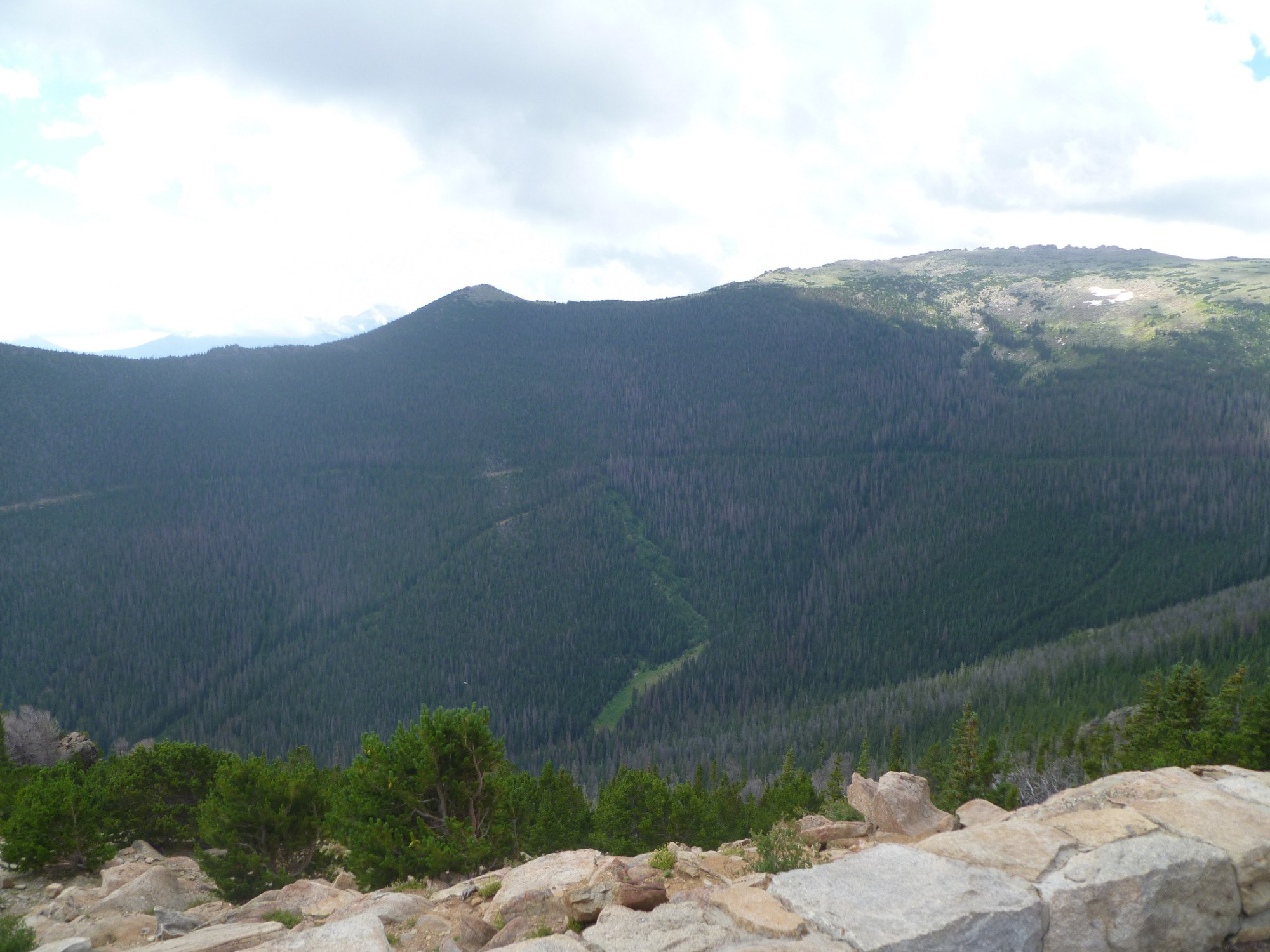 A view from Rainbow Curve on the Trail Ridge Road
