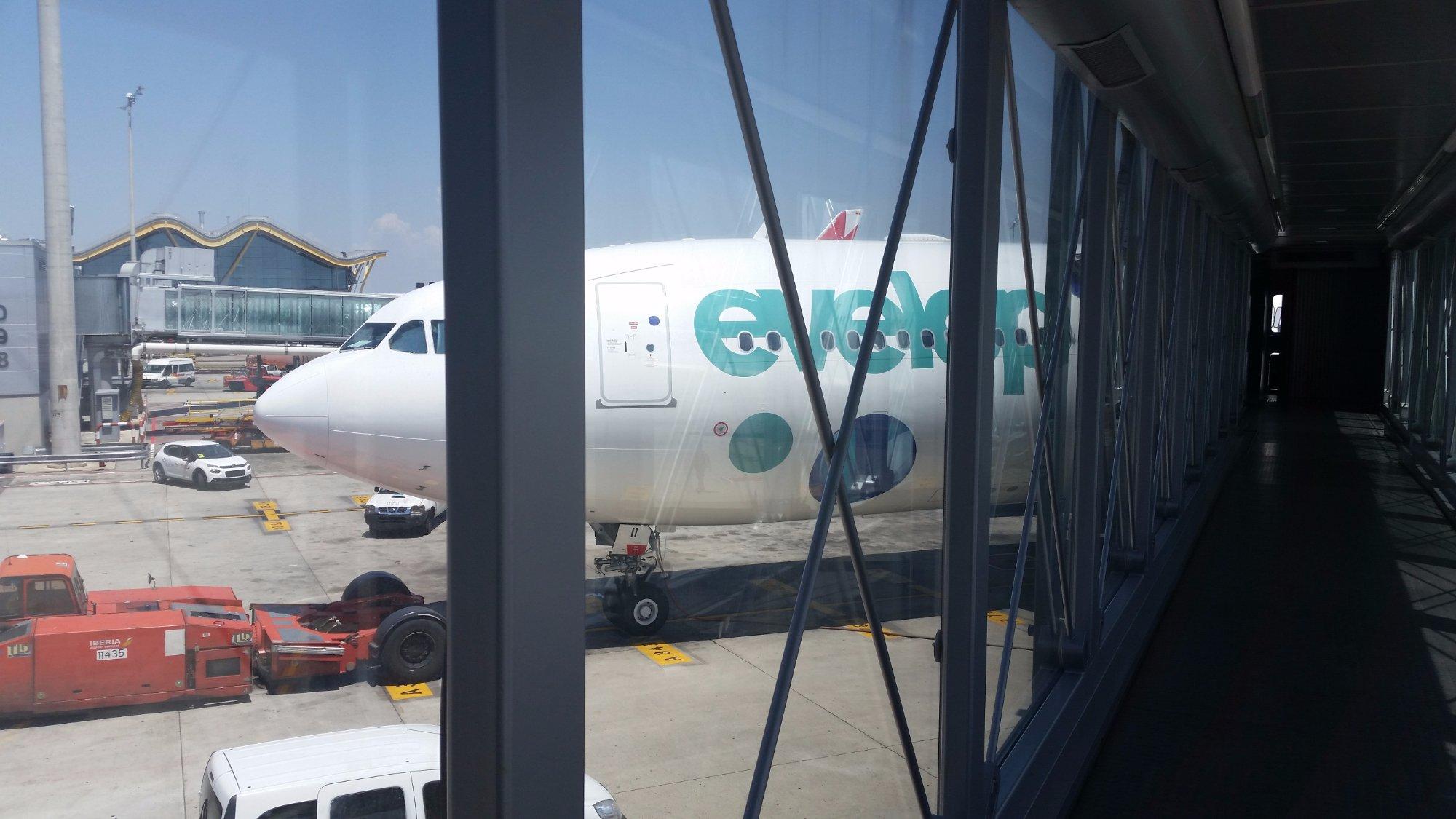 Nuestro avión Madrid-Montego Bay
