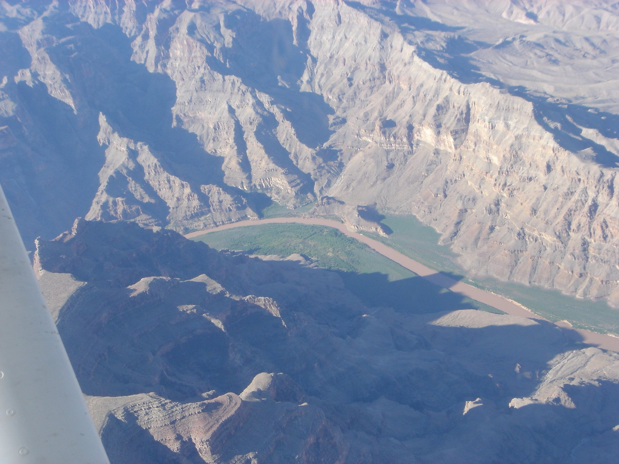 Colorado river and the Grand canyon from the air