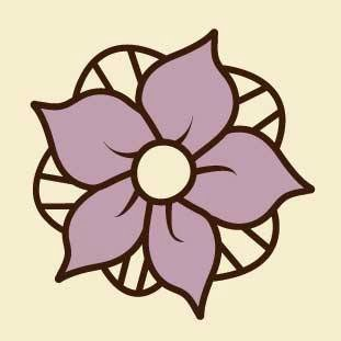 Our logo: the flower Elleboro that grows inside our ice cream cone.