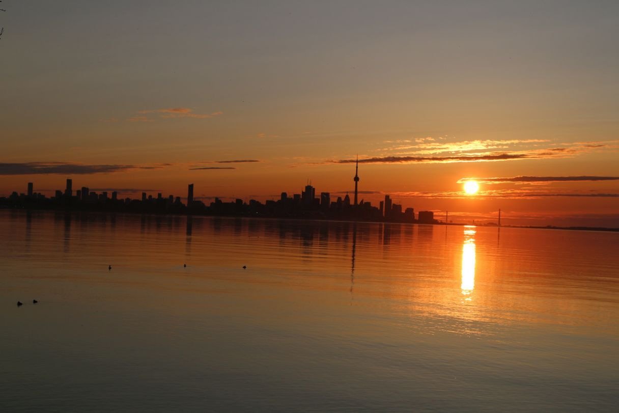 Etobicoke:   Sunrise over the city August 2017