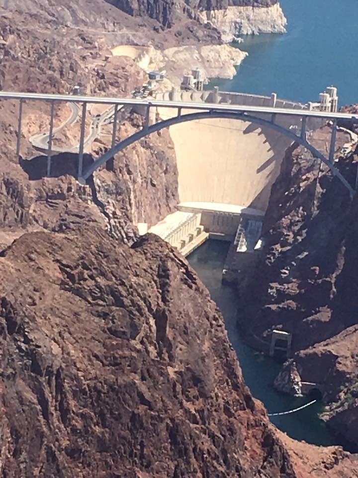 Hoover Dam as seen from the chopper of Sundance Tours excursion