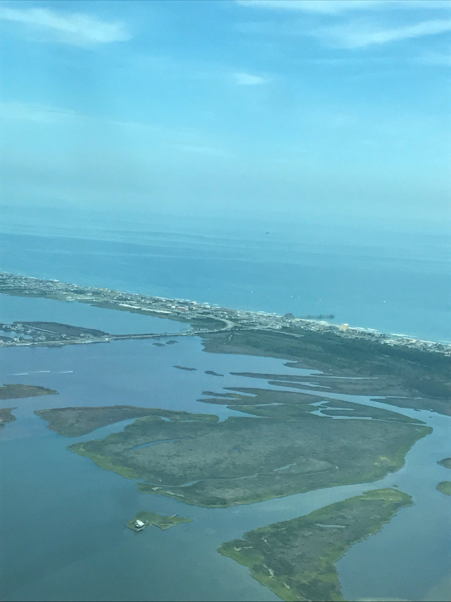 Aerial view of OBX from OBX Airplanes!  Awesome views