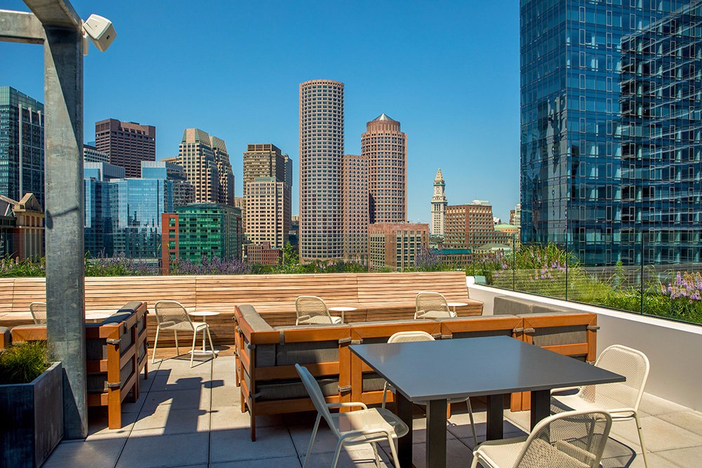 Yotel boston updated 2018 hotel reviews price for Rooftop bar and terrace