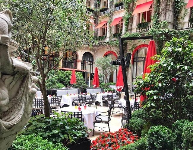 La cour jardin paris champs lys es restaurant for Jardin cour