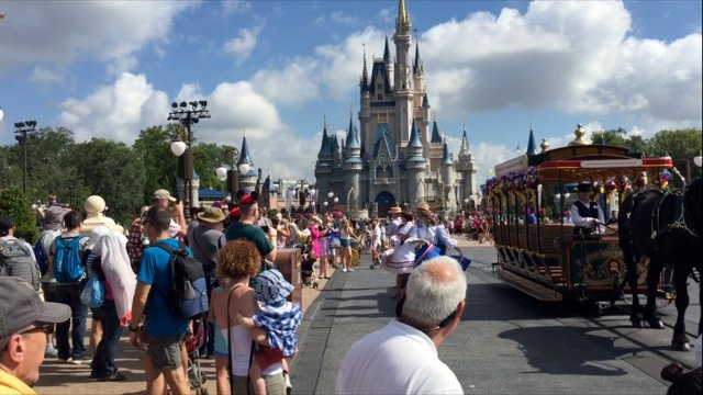 Main Street USA and Cinderella's Castle at Magic Kingdom