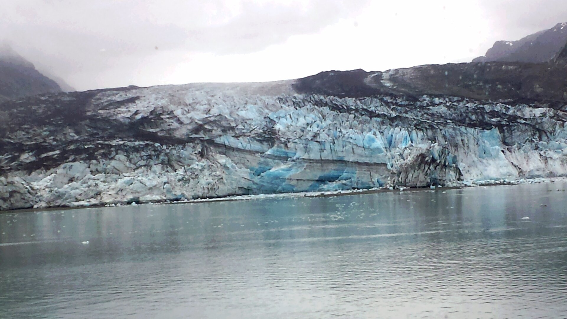 View of one of the glaciers
