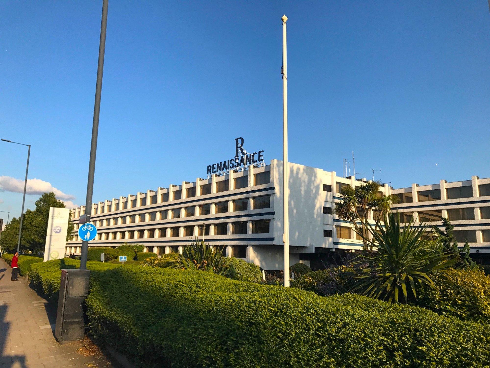 Front of the Building Renaissance LHR (blue sky)