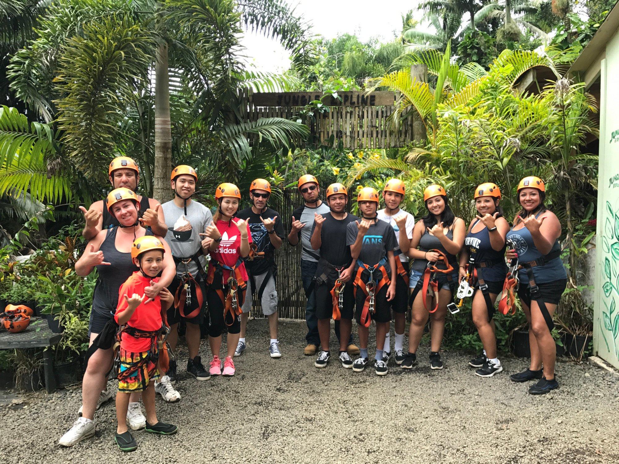 Jungle Zipline Maui HI