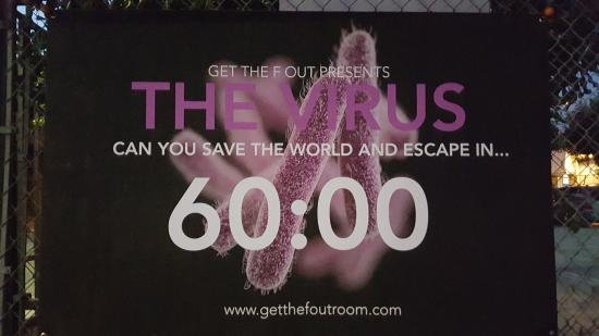 ‪The Virus Escape Room presented by Get the F Out‬