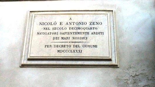 Lapide a Nicolò e Antonio Zeno