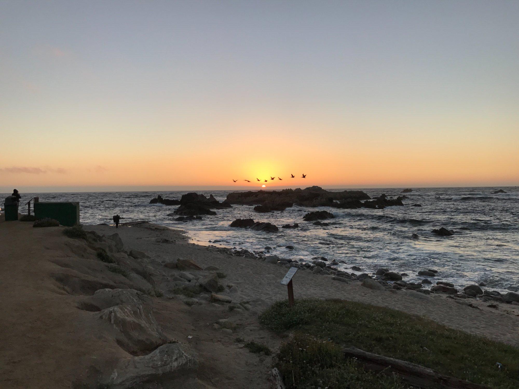 Sunset Point, entre Carmel e Monterrey, final da tarde....