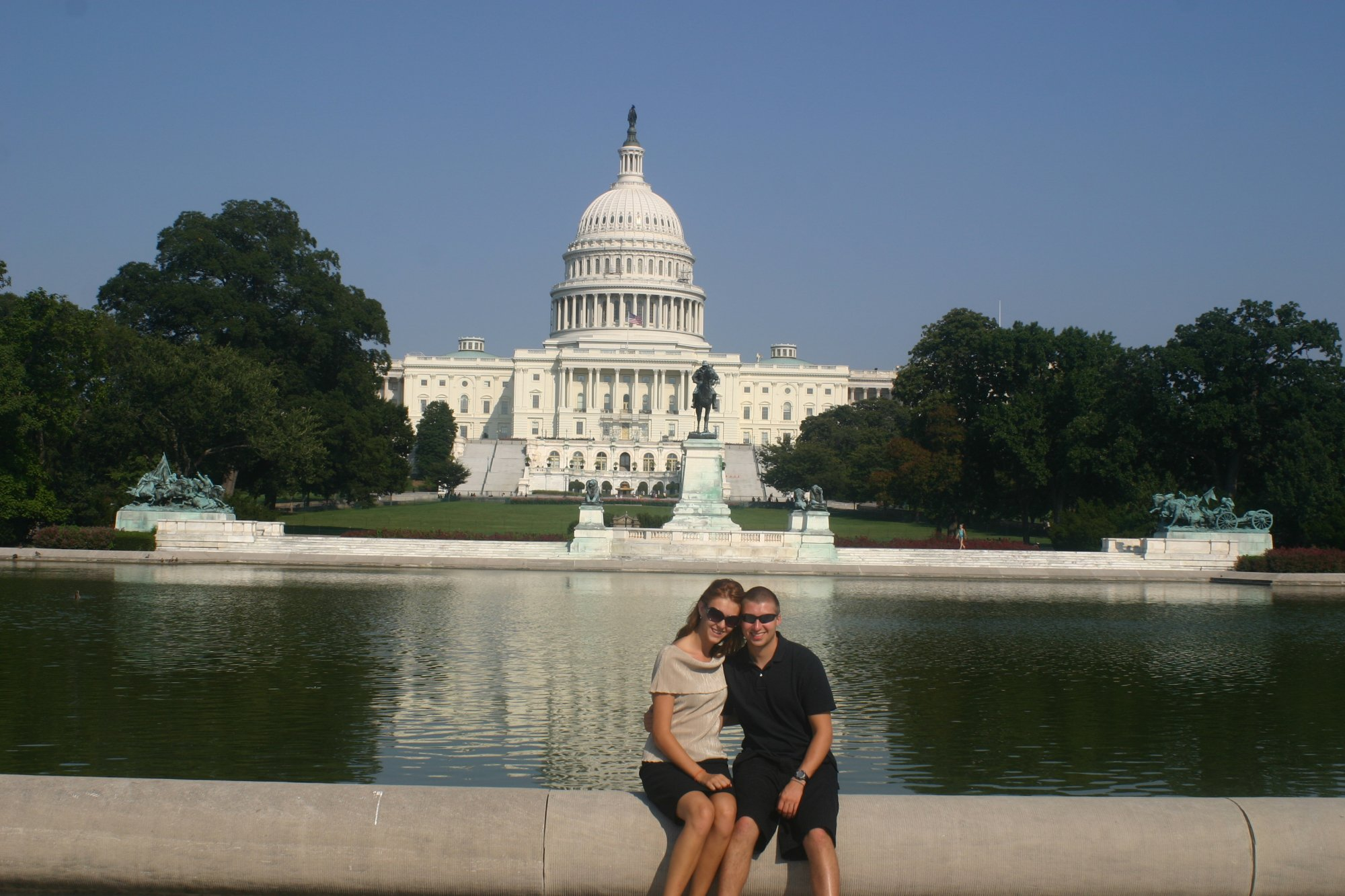 Sarah & I enjoying the city