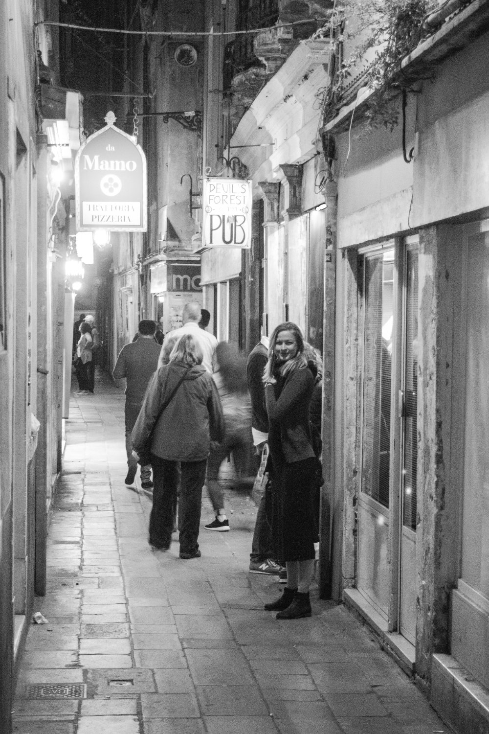 One of the small shopping alleys
