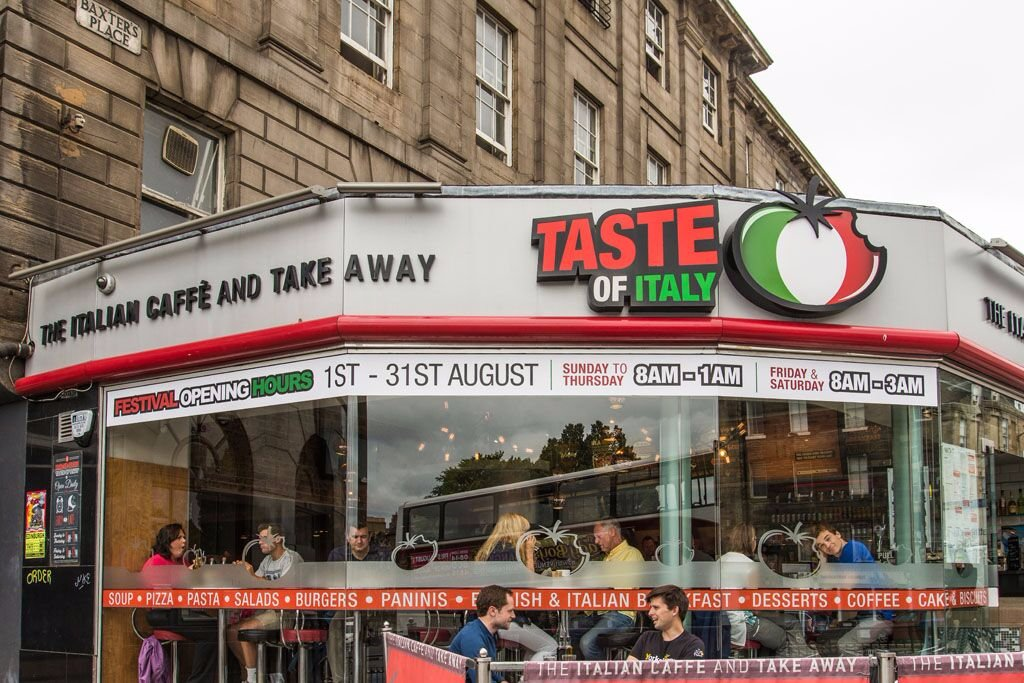 Taste of italy edinburgh broughton calton for O kitchen edinburgh menu
