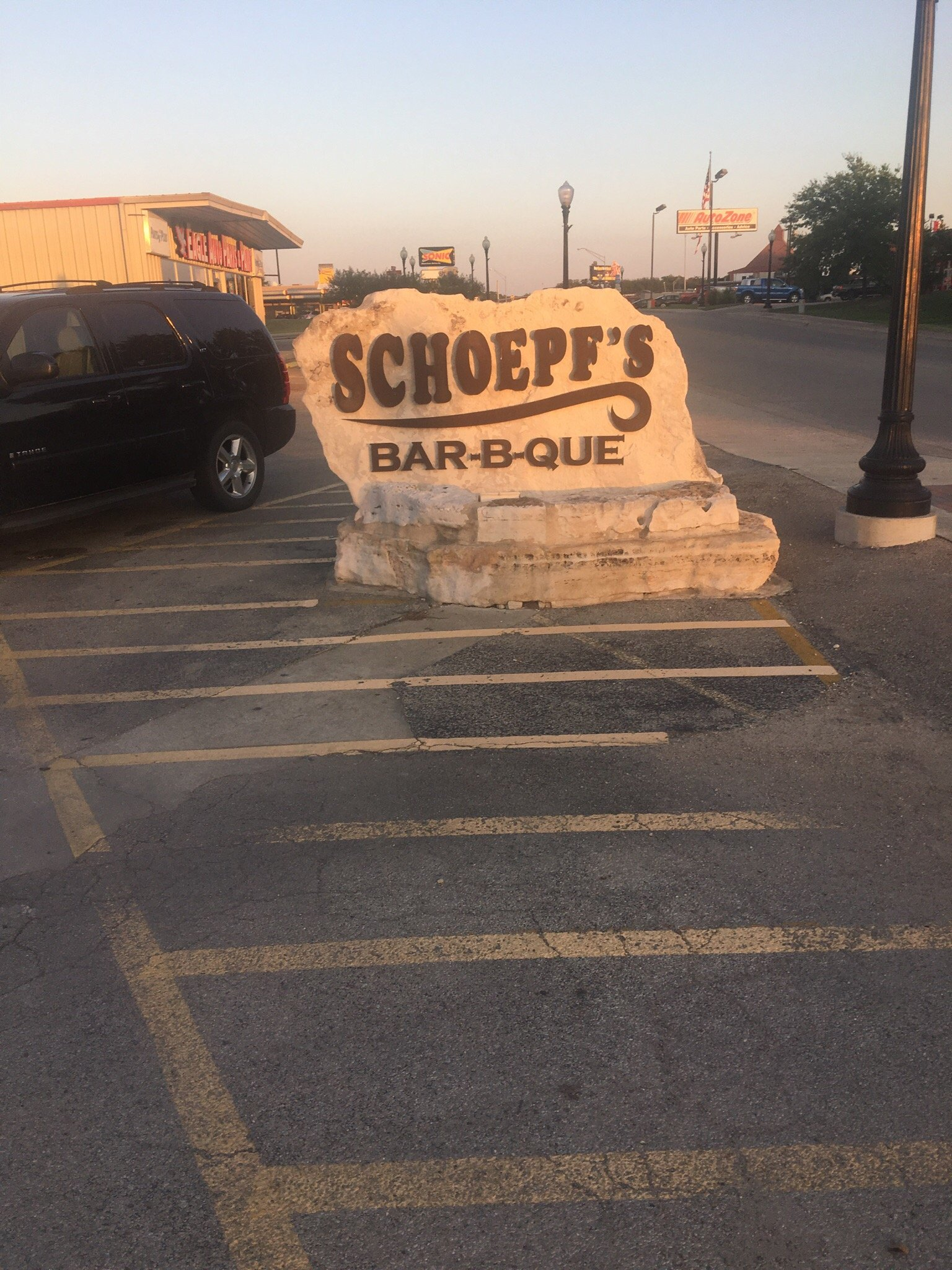 schoepf u0027s old time pit bar b que belton menu prices