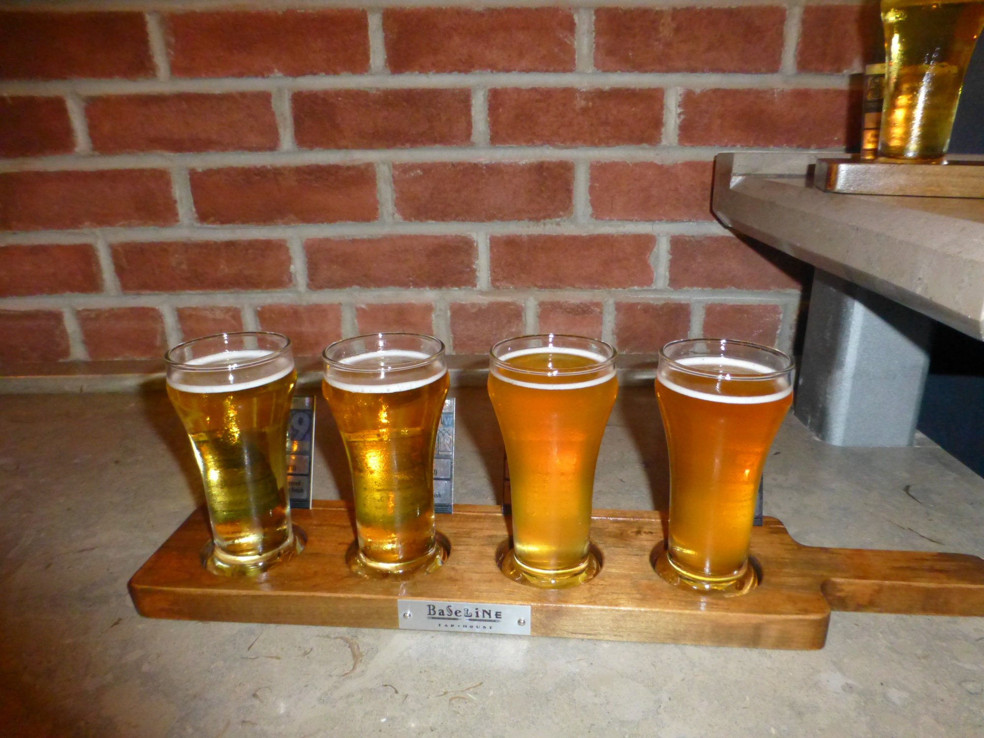 Beer flight Baseline Tap House