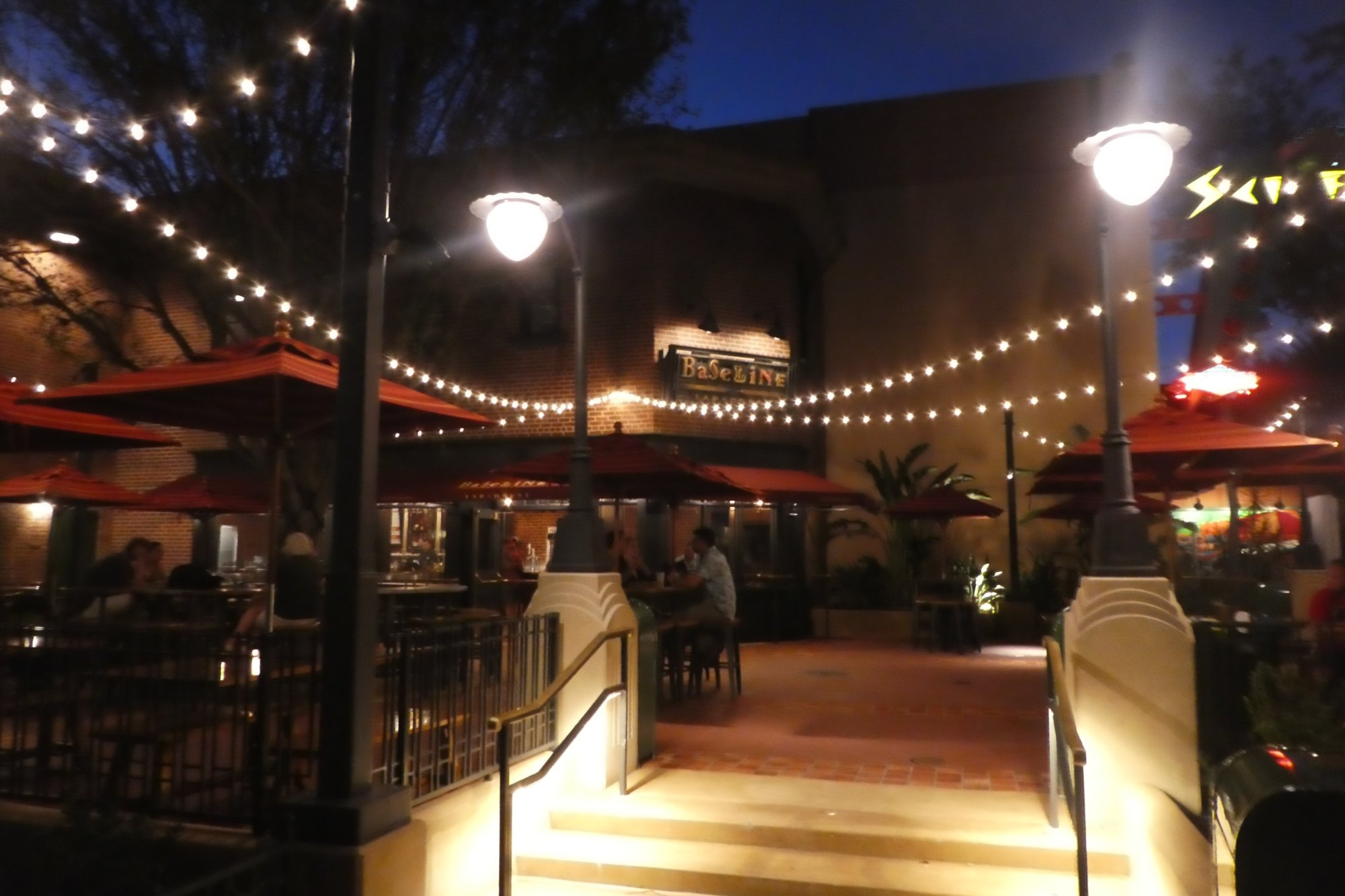 Another Baseline Tap House at night