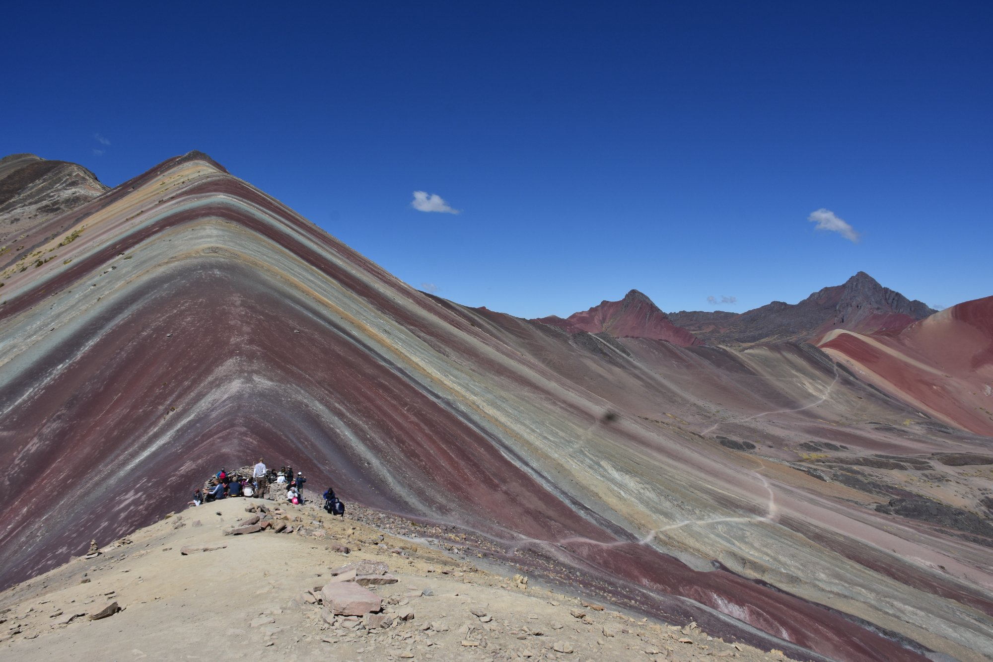 The Rainbow Mountain of Peru, also known as Winicunca, is stunning and can be seen on the specta