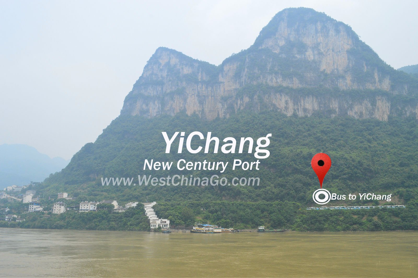 How to get to yichang port from airport and high-speed train station