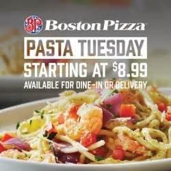 Pasta Tuesday starts at $8.99!