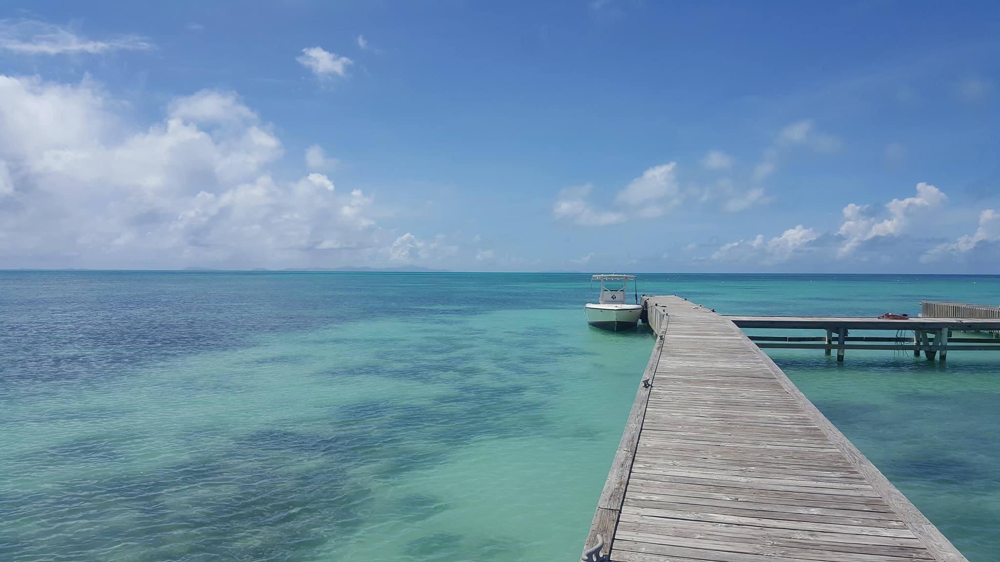 Dock in Anegada - photo by Virgin Motor Yachts