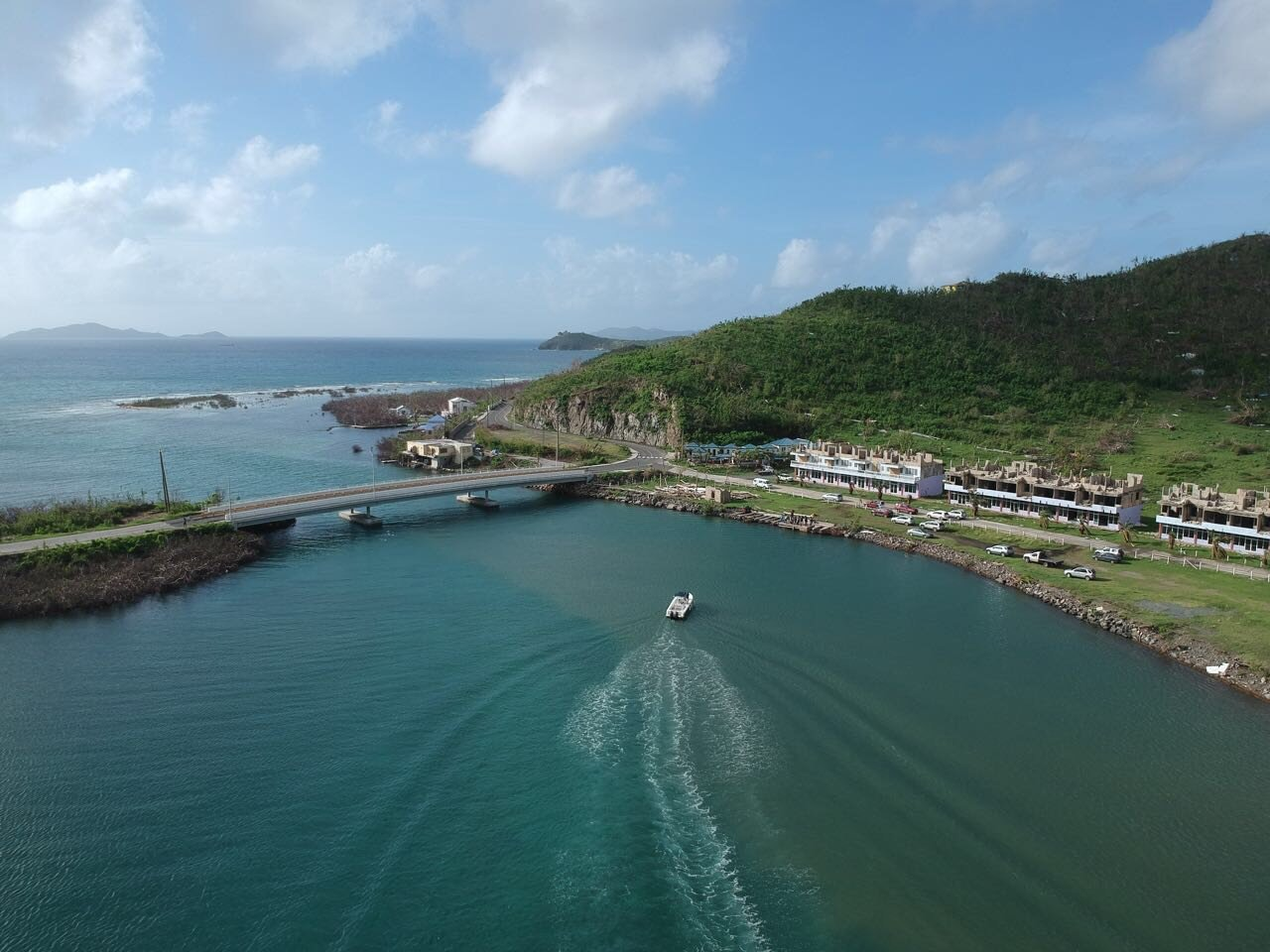 Queen Elizabeth II Bridge (joining Beef Island to Tortola) in Tortola  photo by Alton Bertie