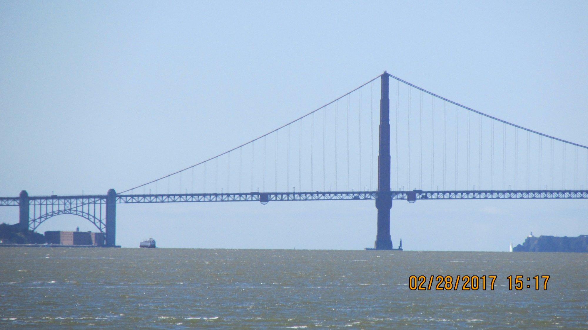 Golden Gate bridge from Treasure Island