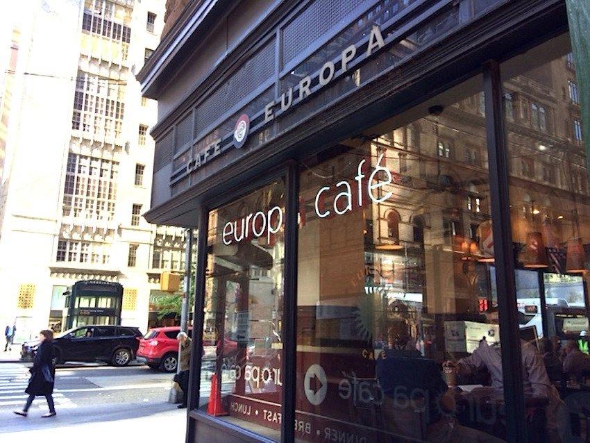 cafe europa new york city midtown restaurant. Black Bedroom Furniture Sets. Home Design Ideas
