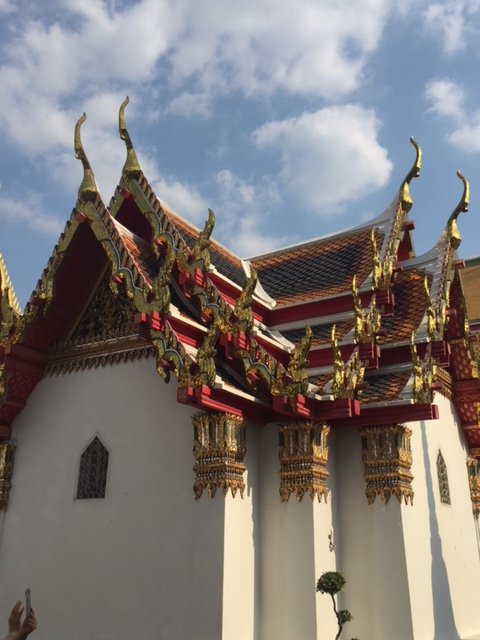 Architectural beauty of temples in Bangkok